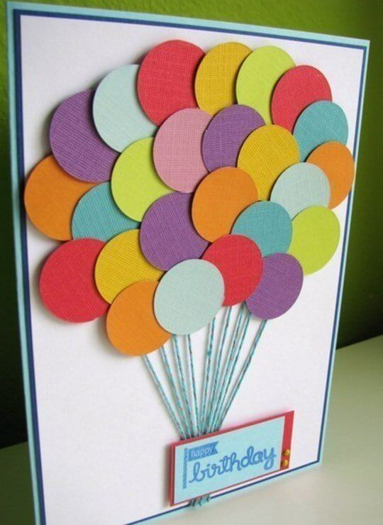 Как сделать красиво открытку на день рождения