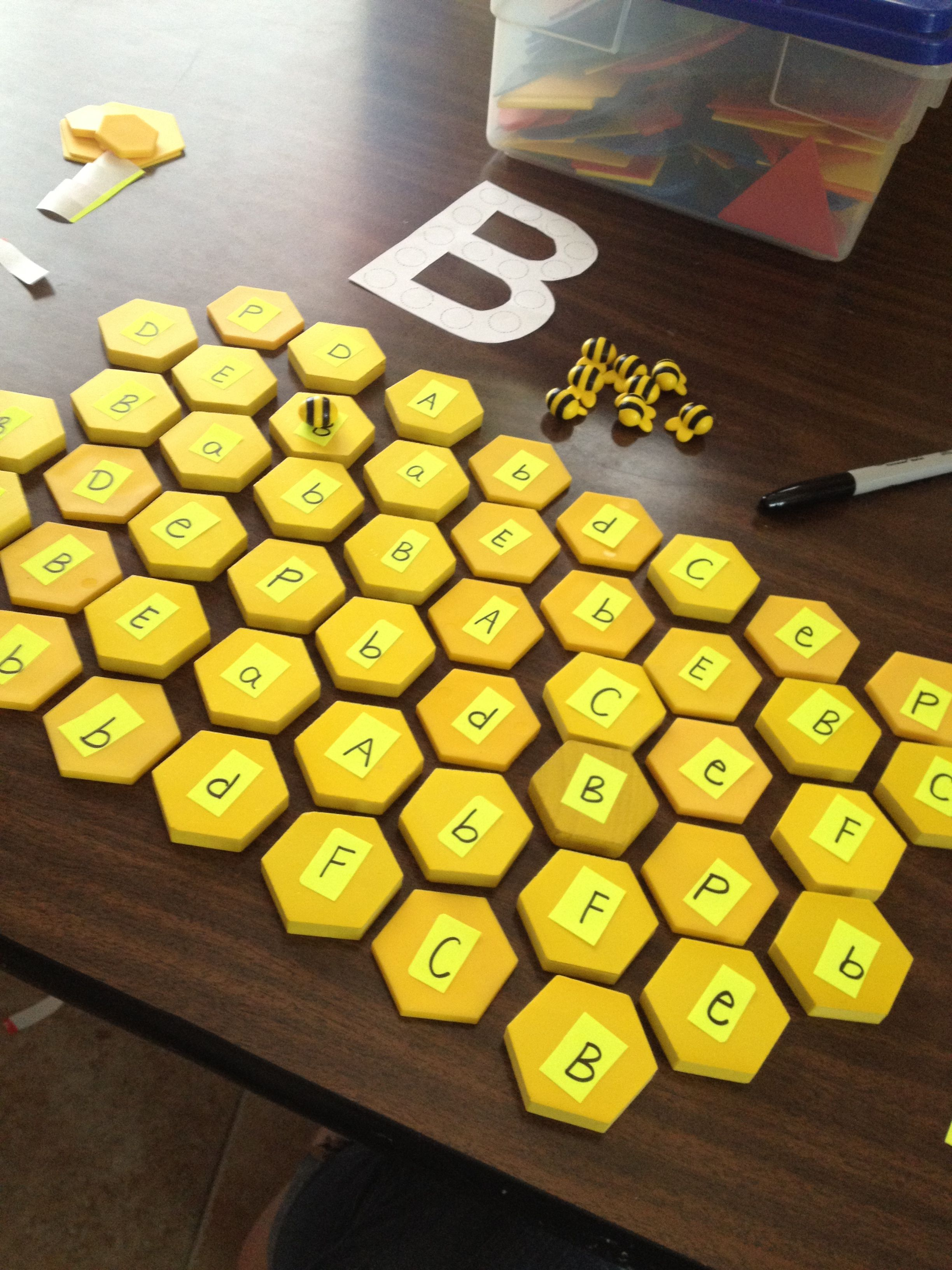 """b"" lesson for preschool bee theme. The bees can only land on the B's! The…"
