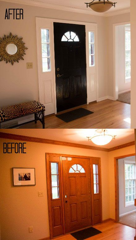 How To Paint A Fiberglass Door Updating House Painting Wood