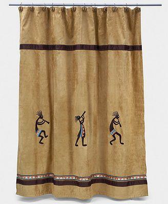 Kokopelli Shower Curtain Curtains Bath Accessories Diy Rustic Decor