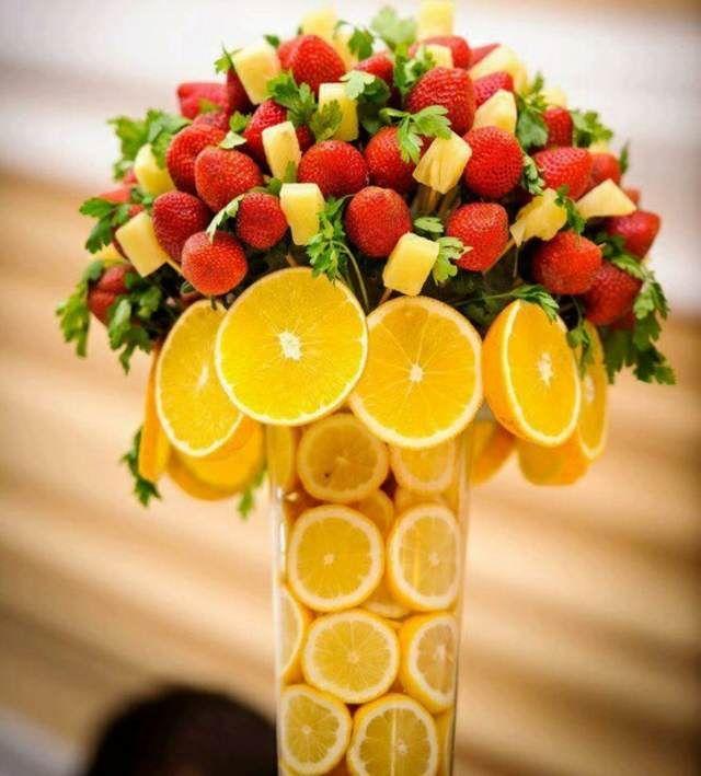 Preciosos Arreglos Frutales Ideas Hermosas Y Deliciosas Arreglos De Frutas Mesas De Frutas Centros De Mesa Con Frutas