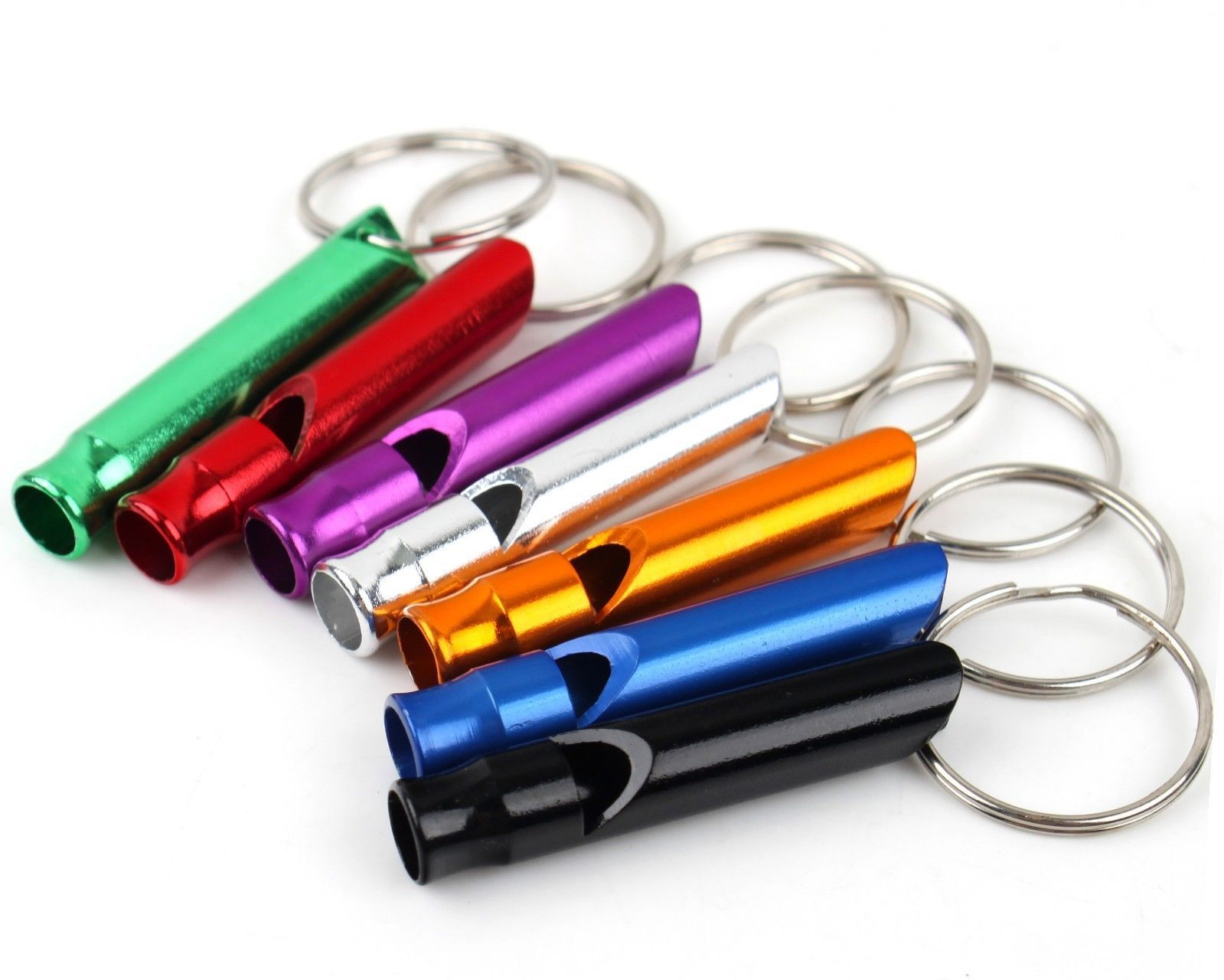 10X Alloy Aluminum Emergency Survival Whistle Outdoor Camping Hiking Keychain UK