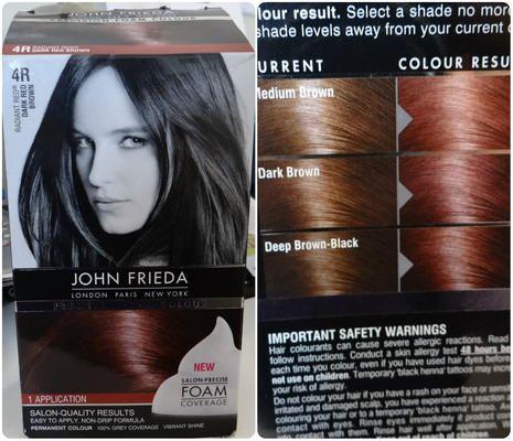 Review john frieda precision foam colour in  dark red brown luuux also rh pinterest