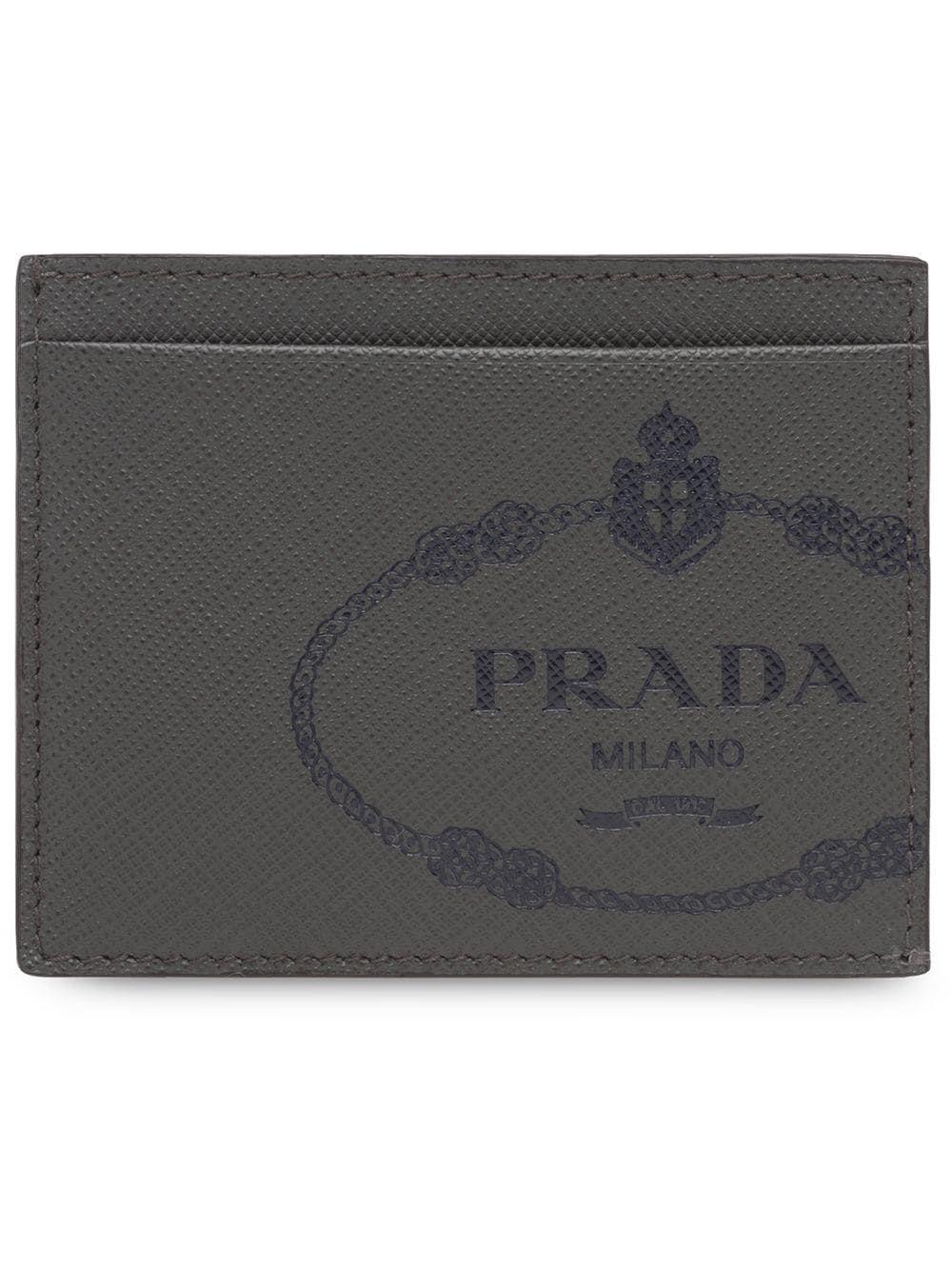 9e51a3cd3b91fa PRADA PRADA SAFFIANO LEATHER CREDIT CARD HOLDER - GREY. #prada ...