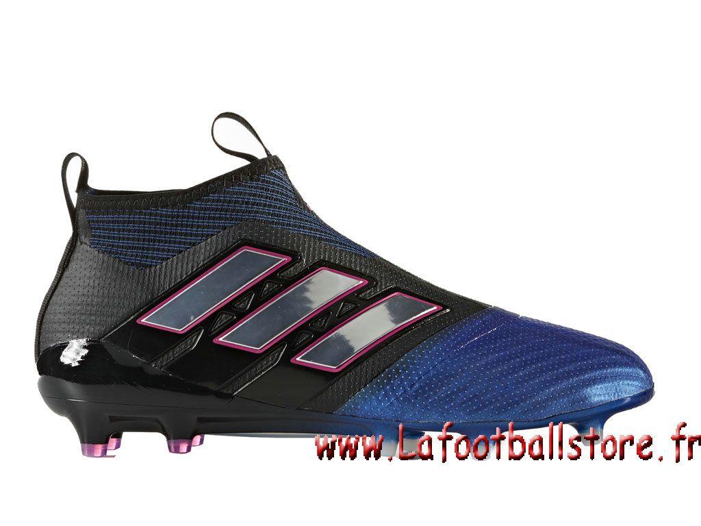 newest 66161 496e9 Adidas Homme Football Chaussure ACE 17+ PURECONTROL terrain souple Black  Footwear White Blue BB4312 -
