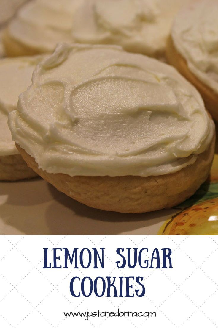 A lemon flavored sugar cookie with a cakelike texture, frosted with lemon buttercream.  If you love lemon you will love these cookies.
