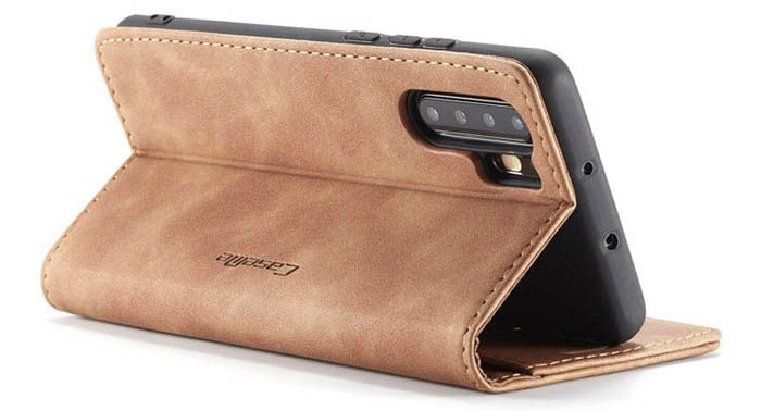 CaseMe Huawei P30 Pro Retro Wallet Stand Magnetic Case Brown