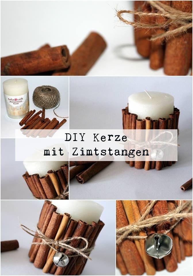 DIY Kerze mit Zimtstangen | Alle DIYs von DIYCarinchen