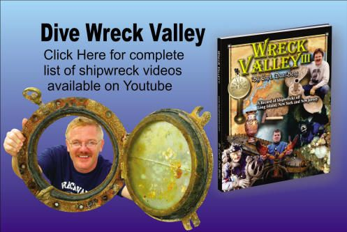 Check out a complete list of episodes of the Dive Wreck Valley series. These videos which were filmed as part of the old Dive Wreck Valley TV series have now been posted on youtube. Be sure to subscribe to the youtube channel so you do not miss future episodes.