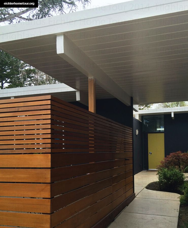 Linda.jpg Modern carport, Eichler homes, Garage design