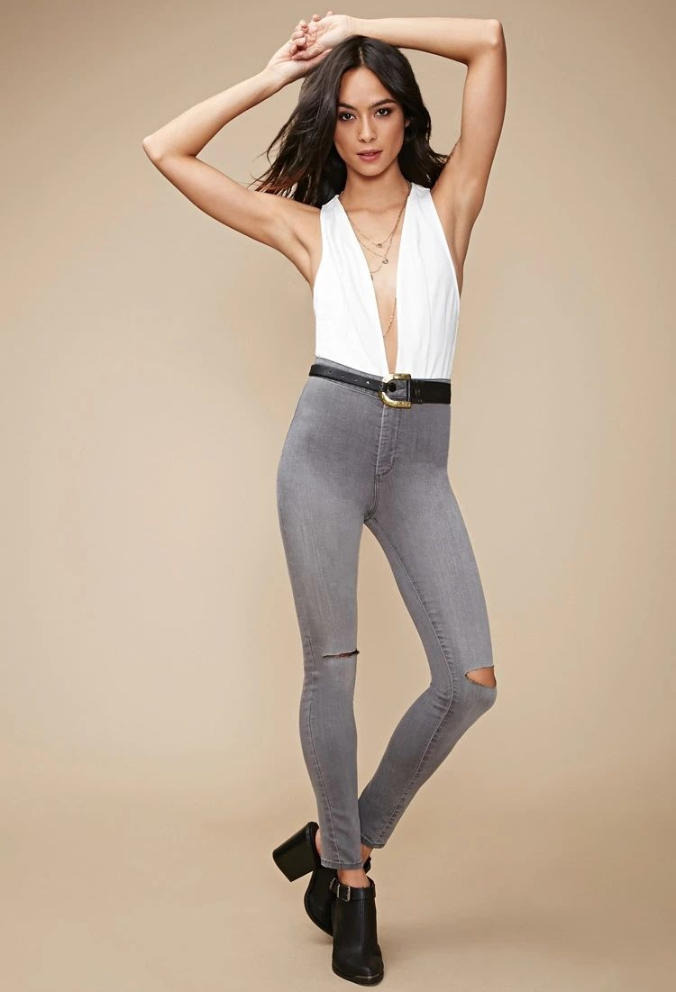 Ripped High-Rise Super Skinny Jeans | Forever 21 #forever21denim
