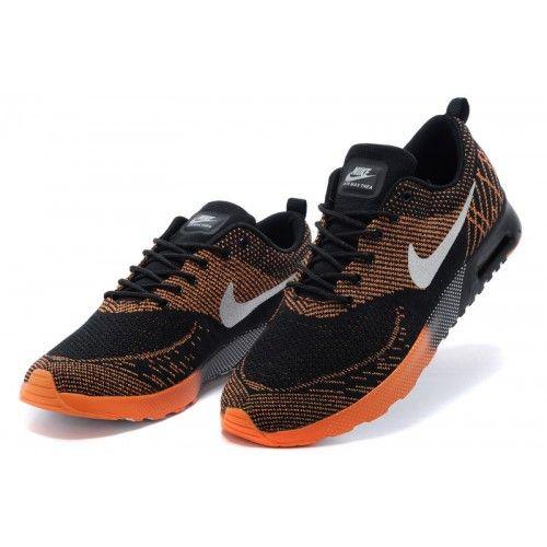 Vente Chaussures De Sport Homme Nike Air Max Thea Flyknit Noir Orange, Haut  De Gamme Nike Air Max Thea Sur La Vente, Le Service En Ligne 24 Heures, ...