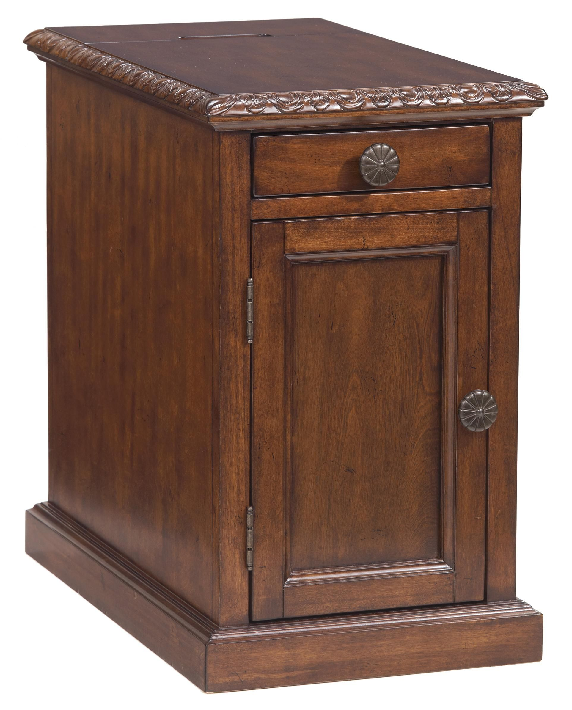 Best Laflorn Chairside End Table With Power Outlets Pull Out 640 x 480