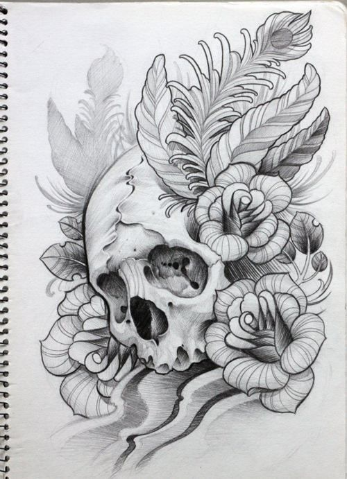 I love drawing skulls like this