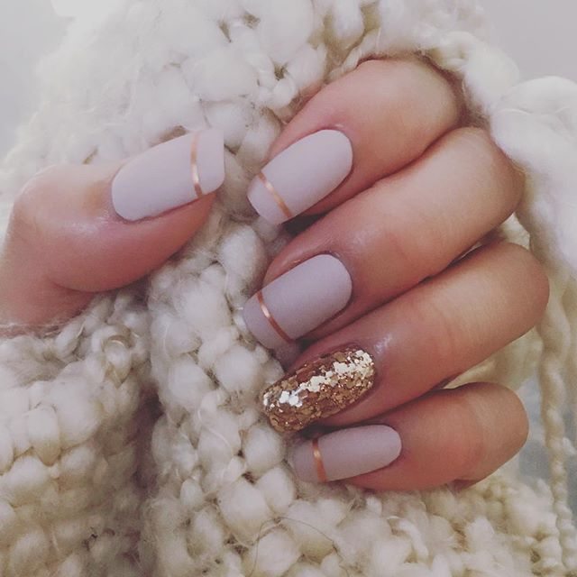 In With Matte Pink And Rosegold Gel Nails Lately Gel Nails Pink Nails Nail Designs