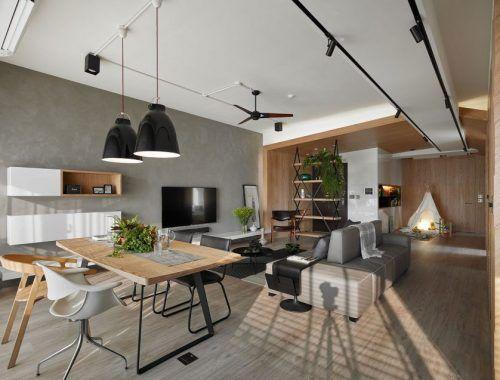 Modern Woonkamer Design : Moderne kindvriendelijke woonkamer speelhoek 東湖 in