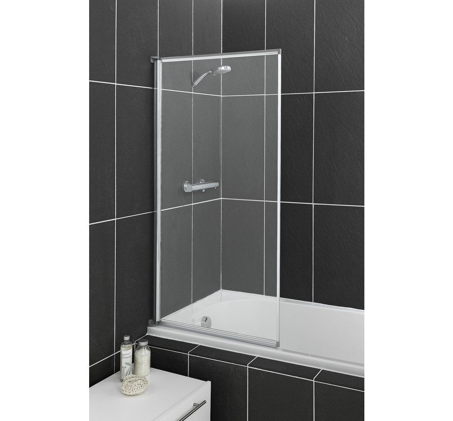 Buy HOME Fully Framed Shower Screen - Silver at Argos.co.uk - Your ...