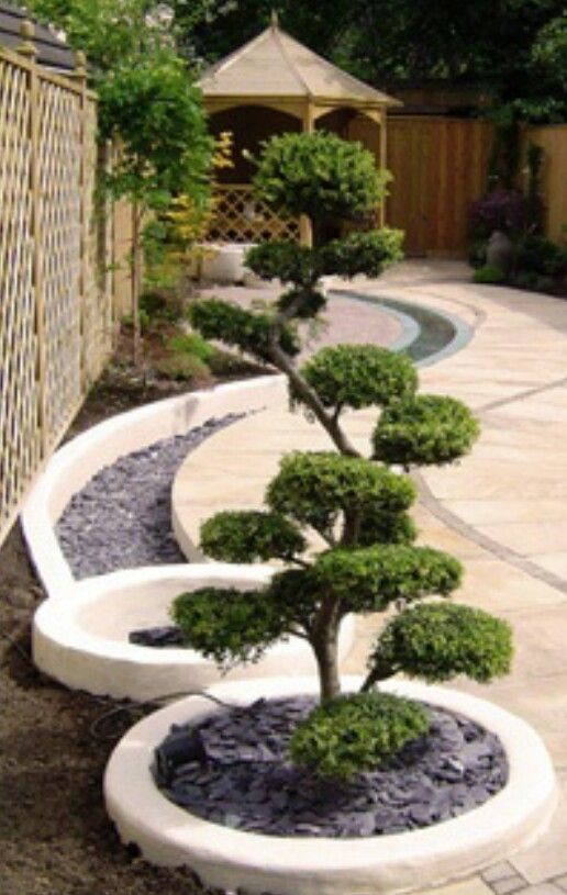 Backyard landscaping design landscape and outdoor for Aiuola zen
