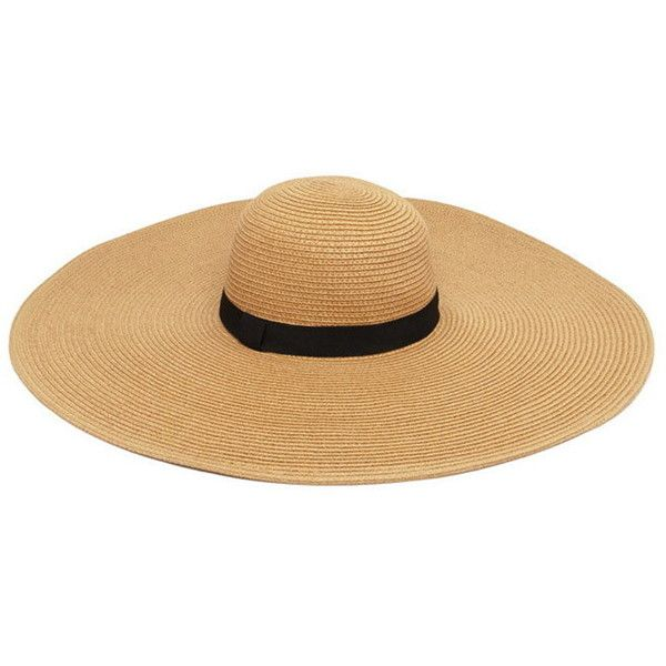 ea8e1ce5 Forever21 Wide-Brim Floppy Straw Hat ($12) ❤ liked on Polyvore featuring  accessories, hats, floppy brim hat, forever 21 hats, wide brim straw hats,  floppy ...