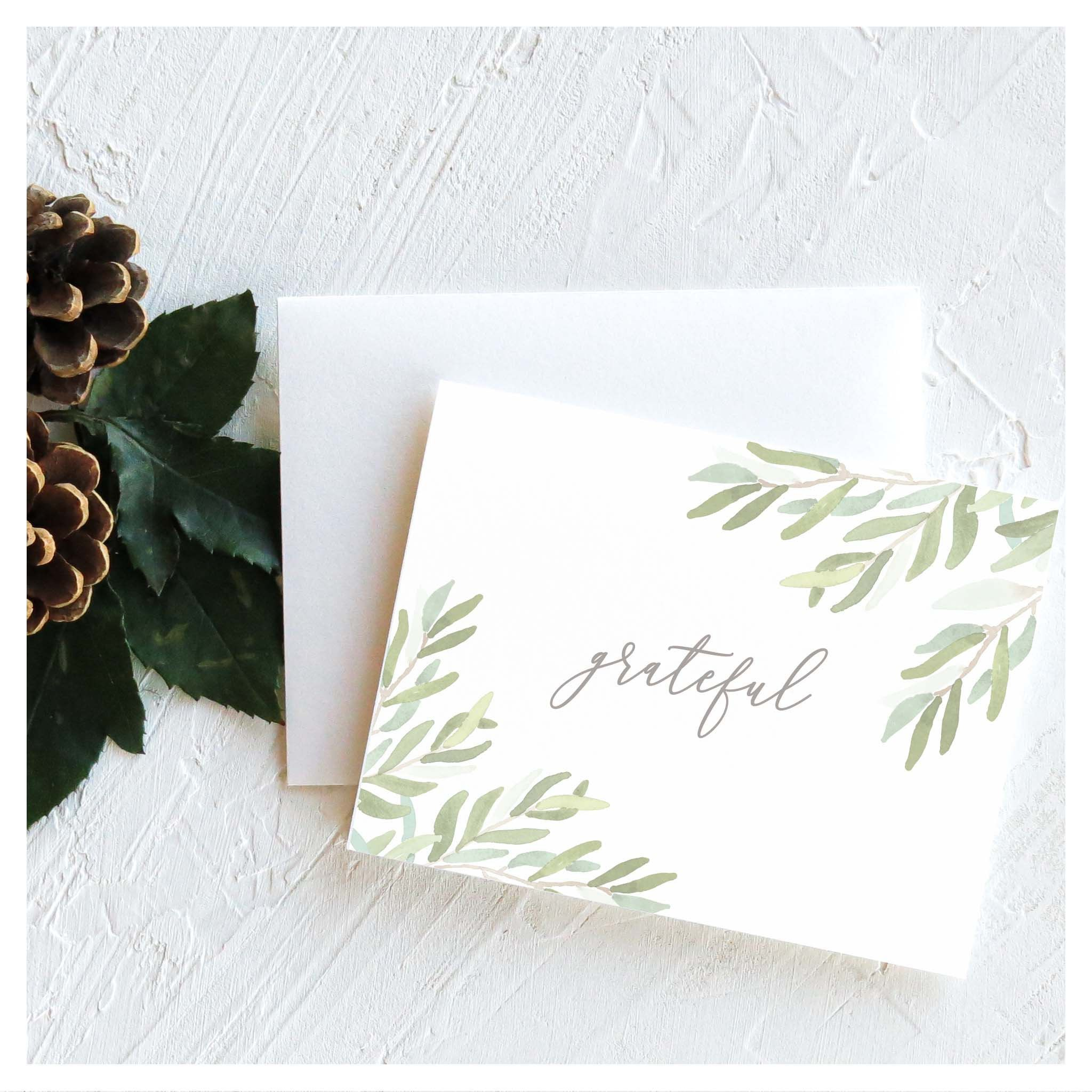 Grateful Thankful Card Business Professional Classic Thank