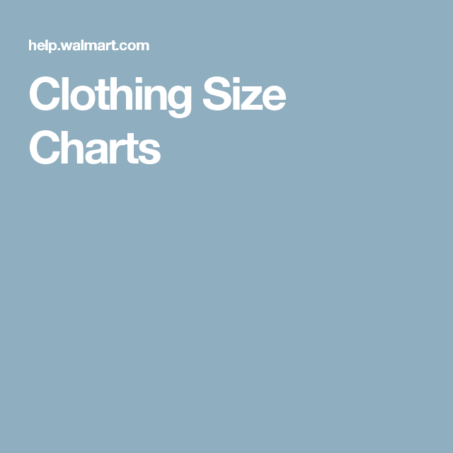Clothing Size Charts Garanimals