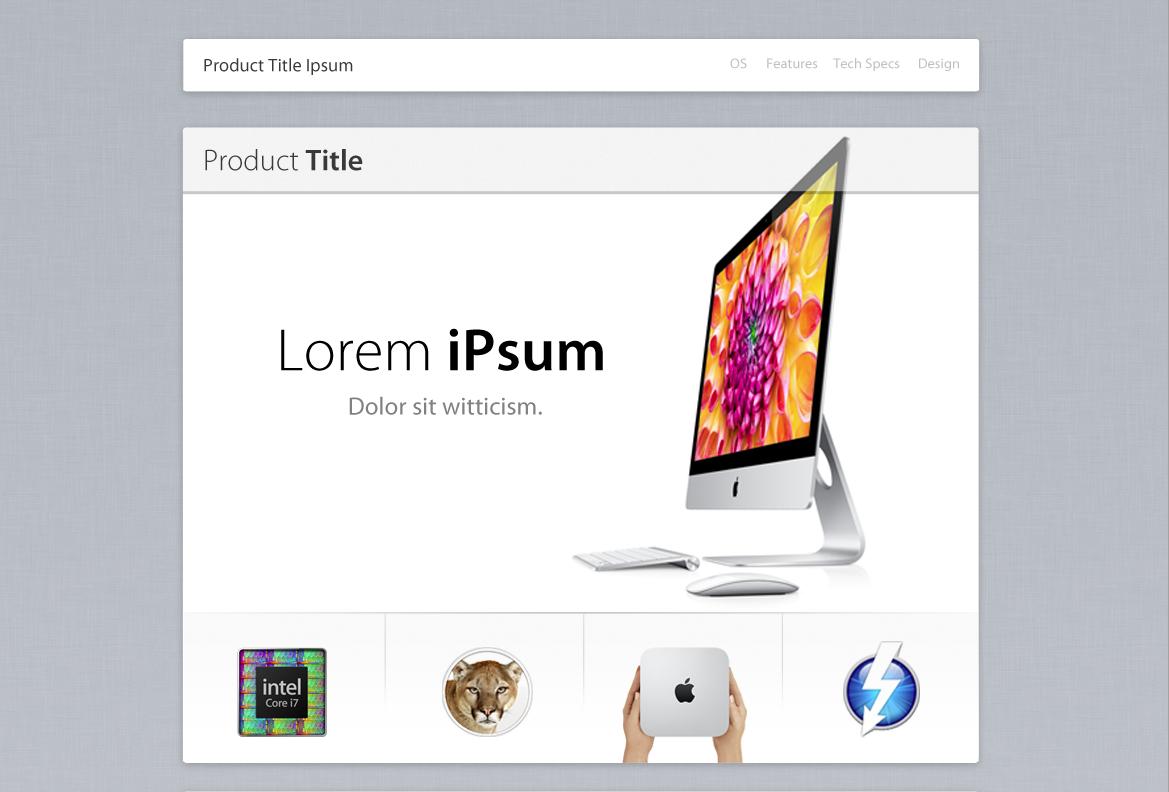 Apple Web Design Template Web Template Design Web Design Web Design Templates Free