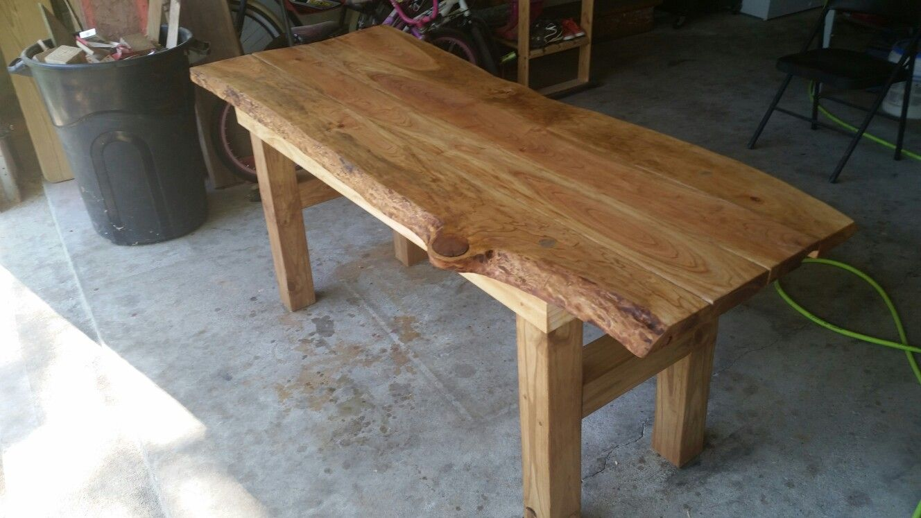 Rough Cut Cherry Wood Natural Edge Table Projects Dining