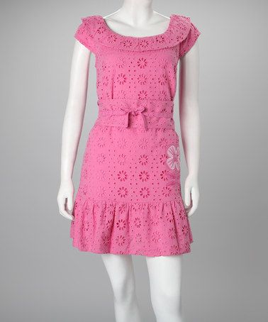 Take a look at this Pink Joanne Dress - Women by Rosalita McGee on #zulily today!