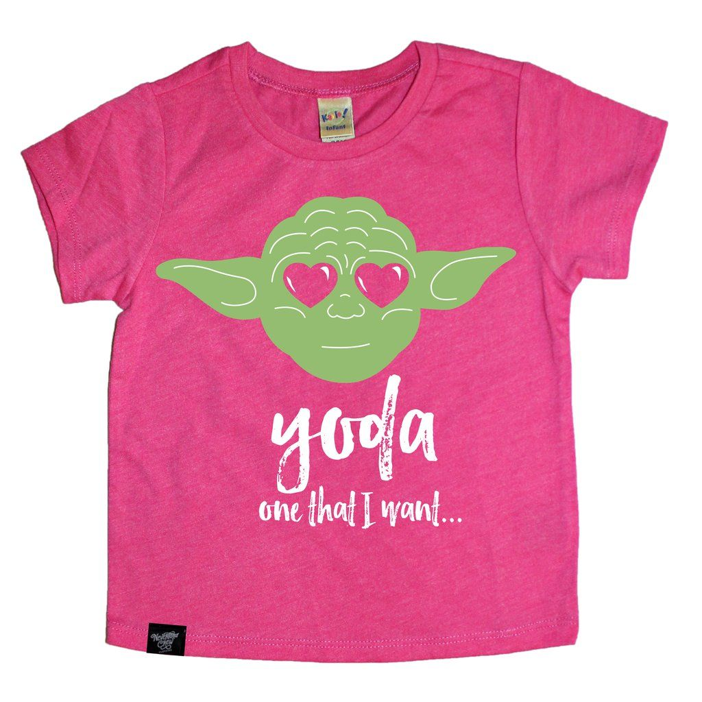 207264577 YODA ONE PINK TEE. Yoda one that I want, funny Star Wars shirt. Girl's Star  Wars shirt / shop small / kids clothes