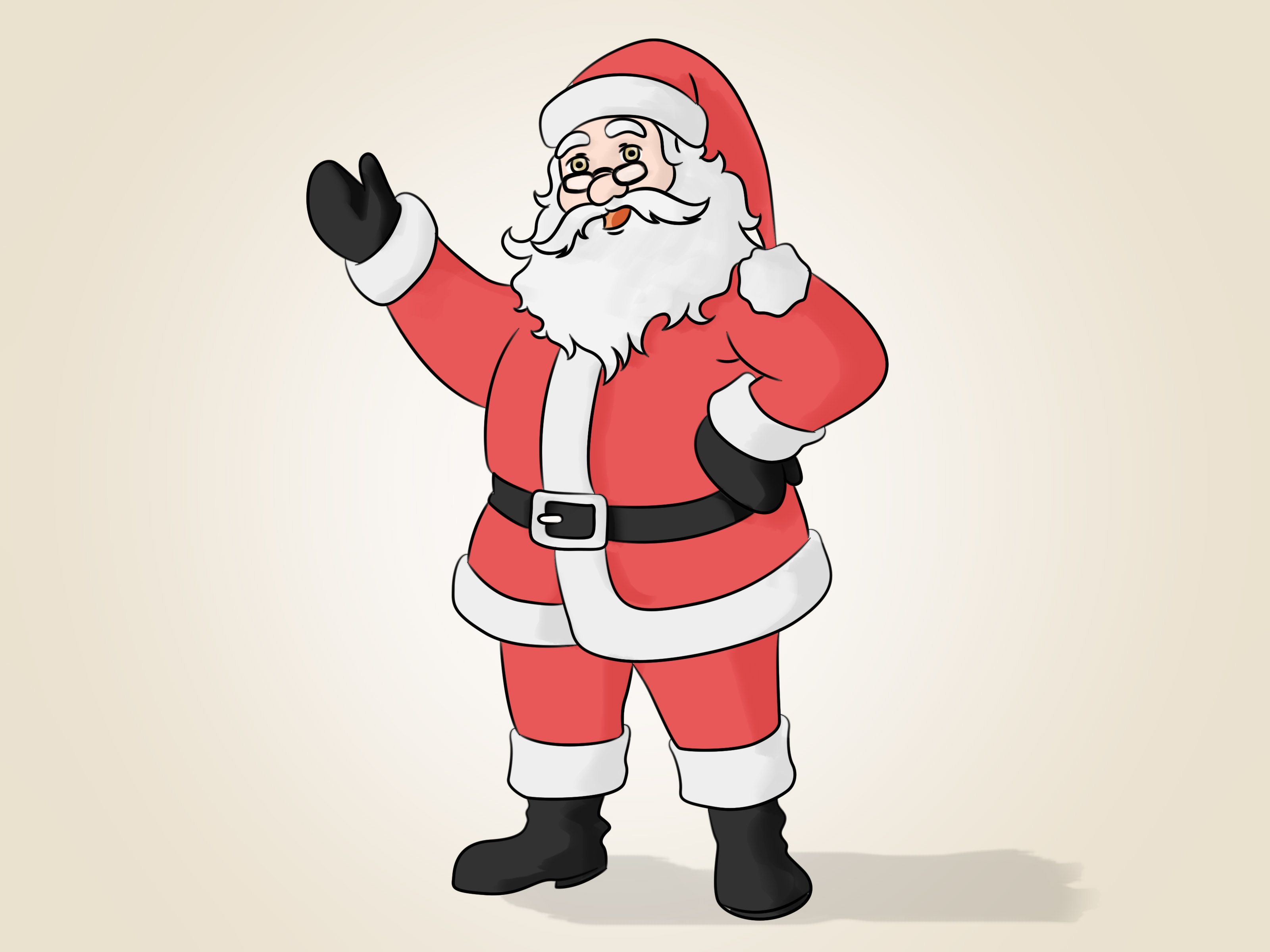 Draw Santa Claus How to draw santa, Santa claus drawing