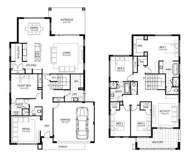 10 Top 5 Bedroom 2 Story House Plans Photos Bedroom House Plans Australia Free House Plans Bedroom House Plans
