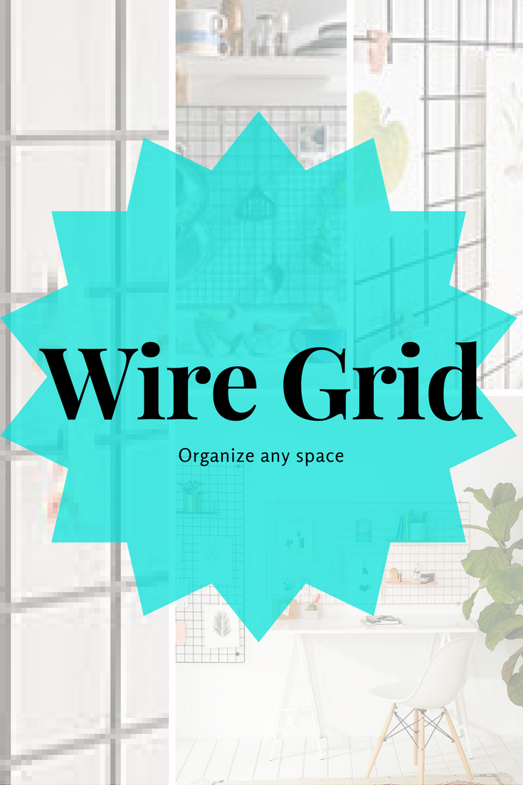 Organize Any Space | Wire Grid | Space Saving | Office Organization ...