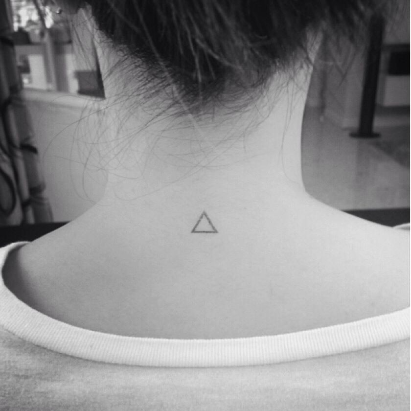 A tiny triangle tattoo . #tiny #small #tattoo #triangle #geometry