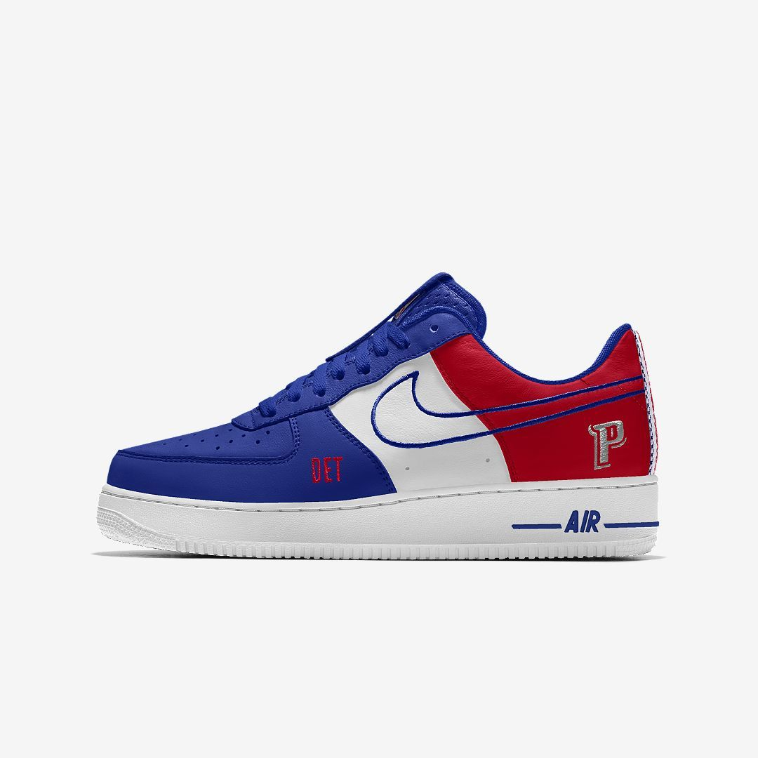 7078b241cef31 Nike Air Force 1 Low Premium iD (Detroit Pistons) Men's Shoe Size 11 (Multi- Color)