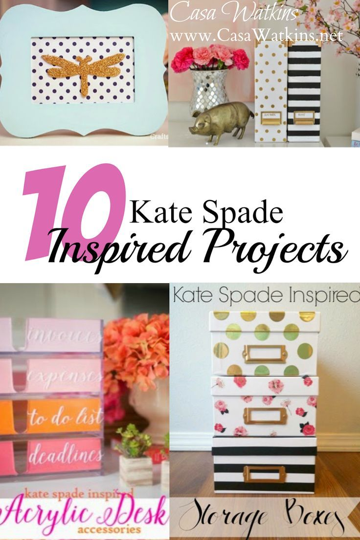 diy office projects. Check Out These Very Do-able Kate Spade Inspired Projects! Projects Span From Framed Art To Office Accessories. (There\u0027s No Way I\u0027m Paying For Her Crap But Diy