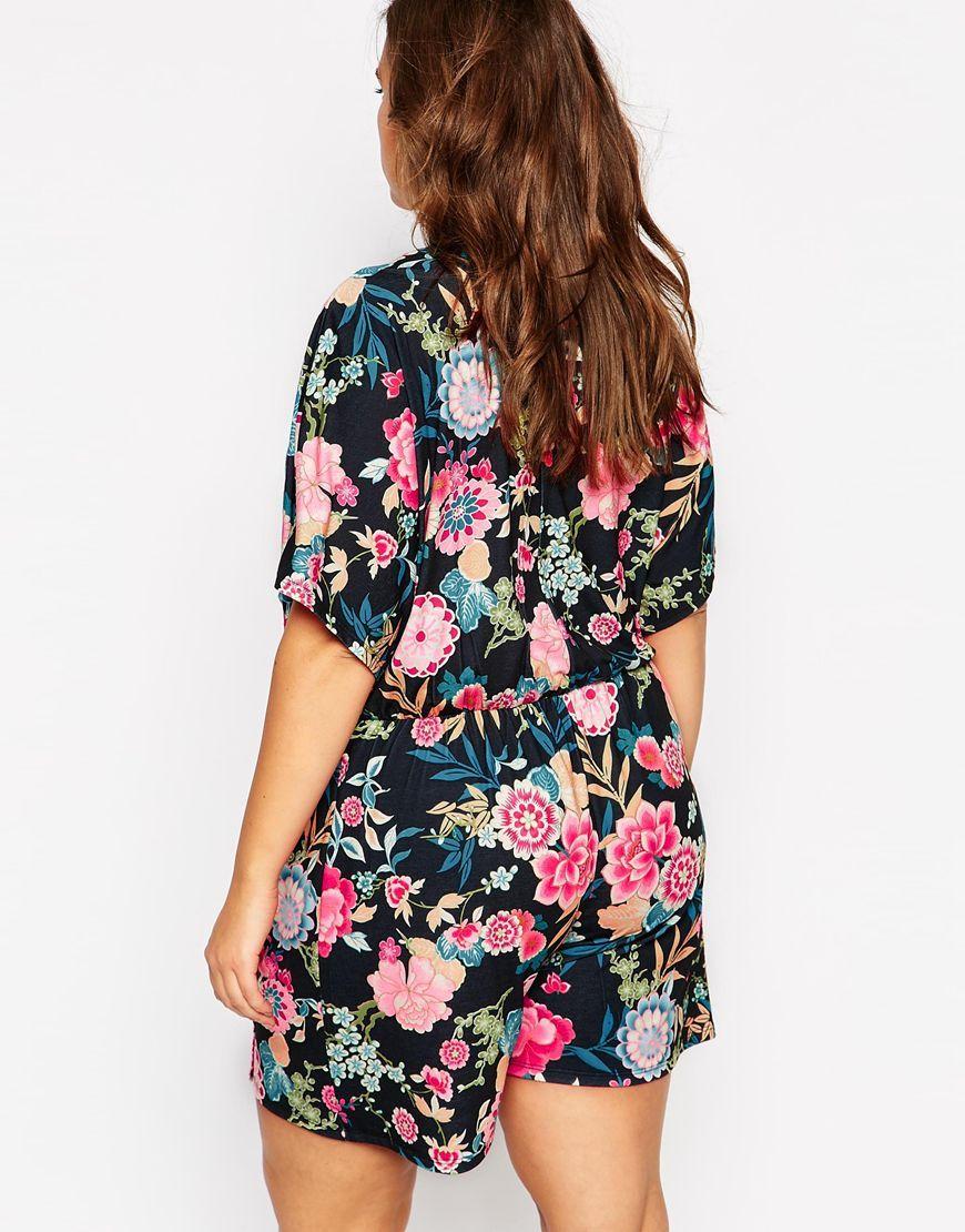 Immagine 2 diPink Clove Floral Print Wrap Playsuit