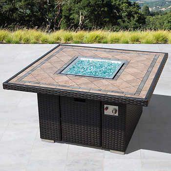 Sirio™ Niko Brown Propane Fire Pit Table | Lighting design in 2019 ...