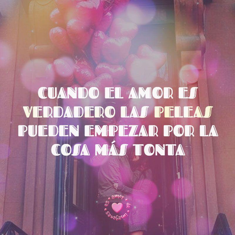 Imagen De Pareja Con Globos Corazon Y Frase De Amor Amor
