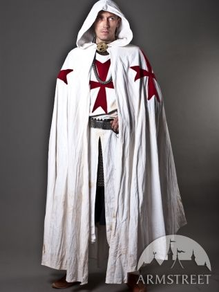 Knight Crusader Templar Medieval Cotton Cloak A bit assassin creed but... missa likes it! : knight crusader costume  - Germanpascual.Com