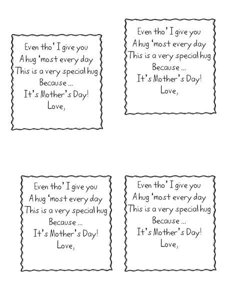 Cute Mothers Day Poem From Kinder Children Short Mothers Day Poems ...