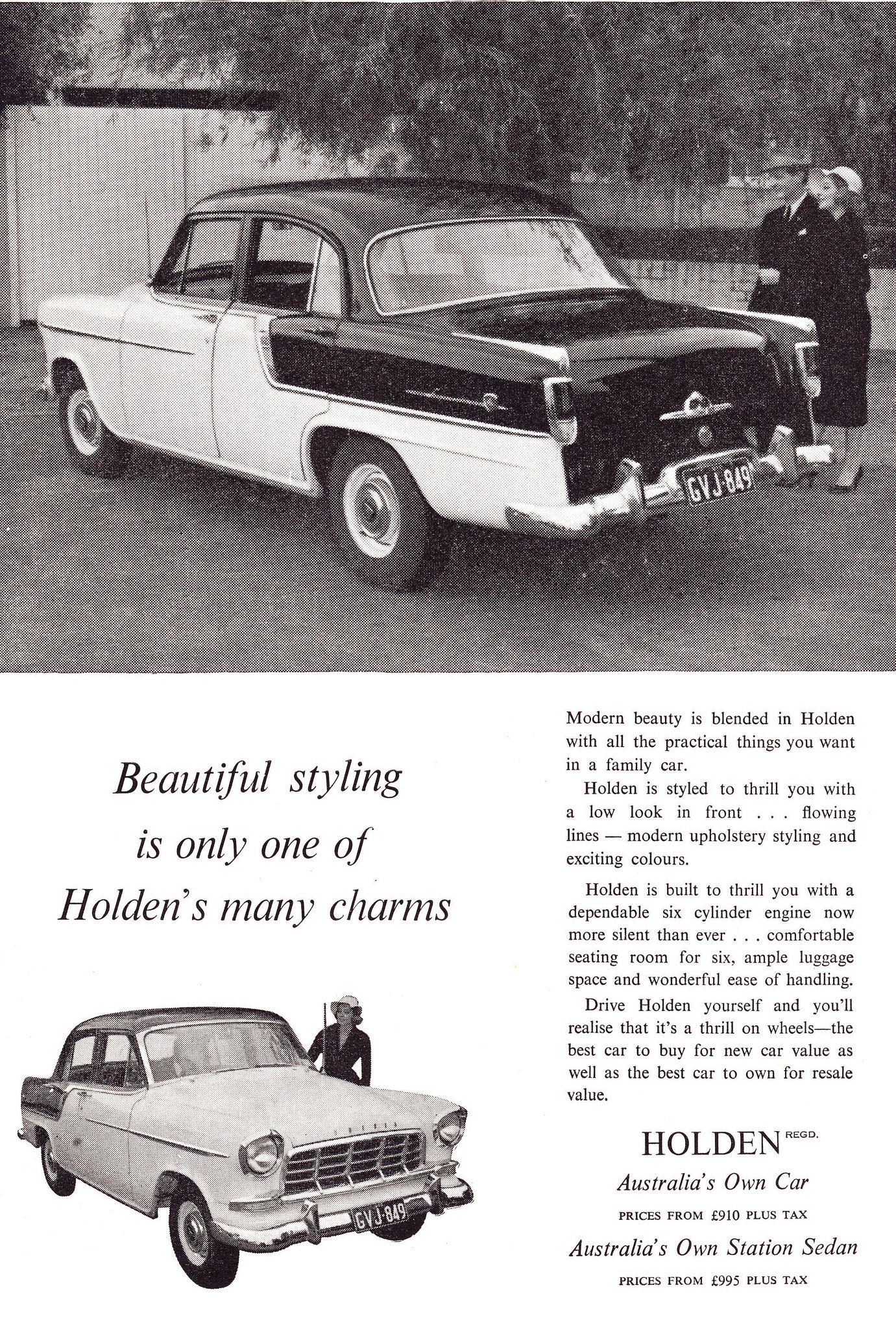 1958 Fc Holden Special Aussie Original Magazine Advertisement