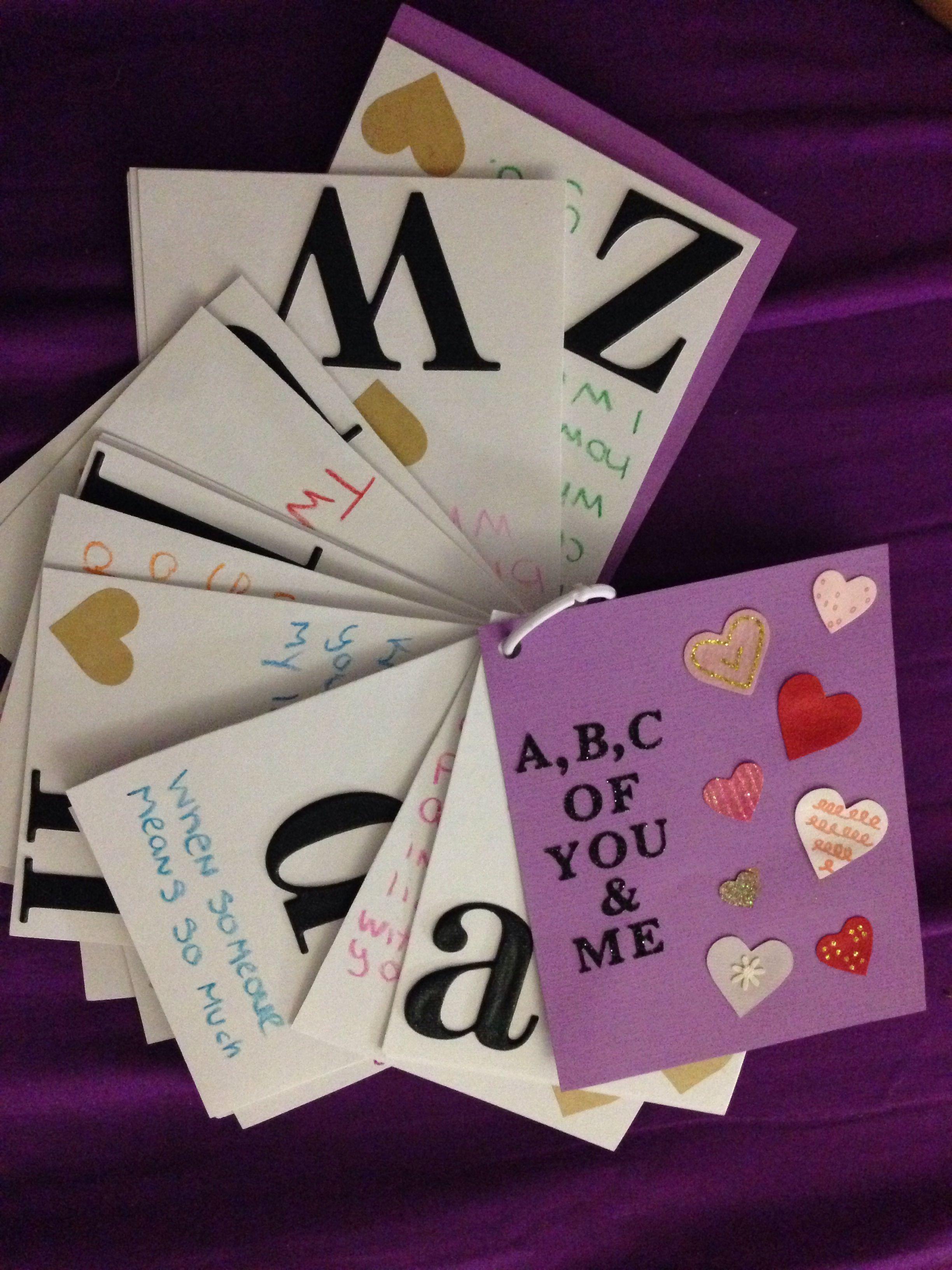 DIY anniversary gift Homemade valentines gift, Diy