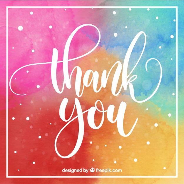 Download Multicolor Thank You Card For Free Thank You Images