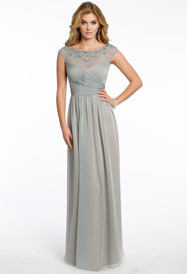 Chiffon Illusion Neck Dress from Camille La Vie and Group USA | MOB ...