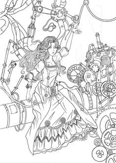 Steampunk Research By RaspberryHunter DeviantArt Coloring