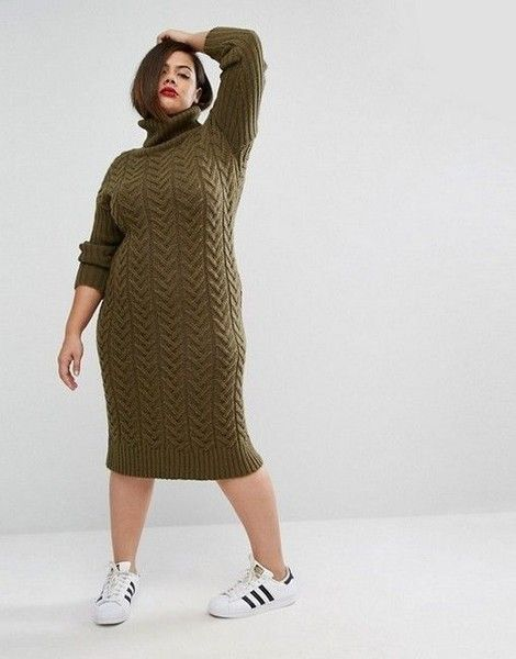 Contrast Sweater Dresses With Running Shoes Plus Size Sweater Dress Sweater Dress Plus Size Sweaters