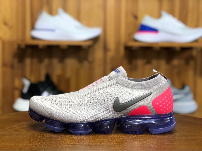 buy popular 25edd 5170a 2018 Nike Air Vapormax Flyknit MOC 2.0 Mens Sport Shoes Wolf Gray Pink  Black AH7006-