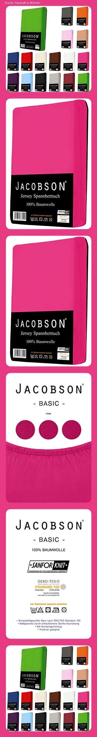 Jacobson Jersey Spannbettlaken Spannbetttuch Baumwolle Bettlaken