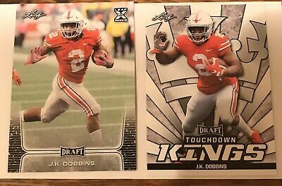J.K. Dobbins Lot Of 2 Leaf Draft Ohio State Buckeyes Rookie Card EX KING | eBay