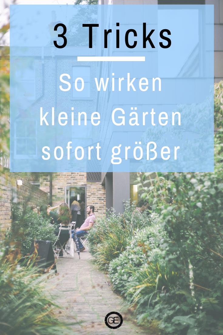 3 Tricks für kleine Gärten. #gartenplanung #kleinergarten #gartengestaltung Mit diesen Tipps der Gartengestaltung schaffst du es, dass dein Garten sofort größer wirkt. #kleinegärten